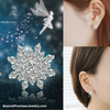 Image of Twinkling Winter Fairy Snowflake Crystal Earrings