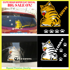 Family Love - CUTE REAR WIPER CAT DECAL - 60% OFF TODAY!