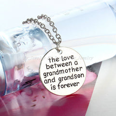 Family Love - **FREE** THE LOVE BETWEEN A GRANDMOTHER AND GRANDSON IS FOREVER NECKLACE