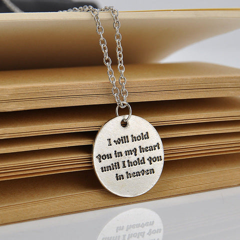 Family Love - Memorable Words Of Love Fashion Silver Charm Statement Love Necklace- Free Shipping!!