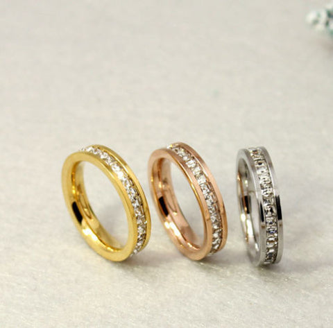 Stunning Silver/ Gold/ Rose Gold Unisex Wedding Bands Size US 3-10 (UK F-T1/2) - 87% OFF!