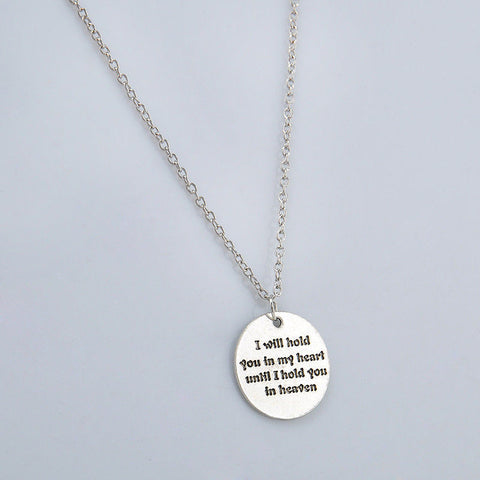 Words of Love Fashion Silver Charm Statement Love Necklace- Free Shipping!!