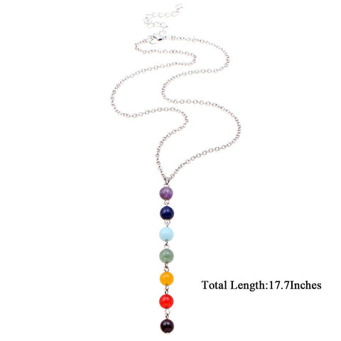 Pendants & Necklaces - Beautiful 7 Chakra Beads Necklace Yoga Reiki Healing Balancing Jewellery- Free Shipping!