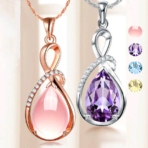 Pendants & Necklaces - Classic Angel Tear Drop Charm Pendant- FREE Shipping