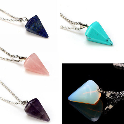 Beautiful Natural Crystal Healing Chakra Reiki Gemstone Necklace