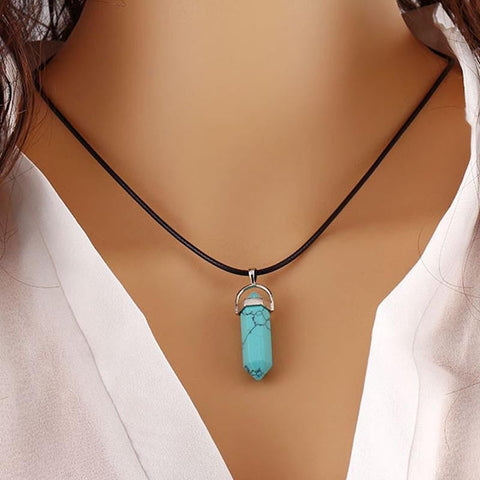 Pendants & Necklaces - Stunning Natural Quartz Crystal Gemstone Chakra Healing Reiki Pendant/ Necklace