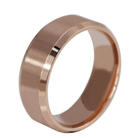 Rings - ***FREE*** 8 Mm Stainless Steel Ring Men/ Women's Wedding Band Silver Black Gold Rose Gold SZ US 5-14 (UK- K-Z+2)