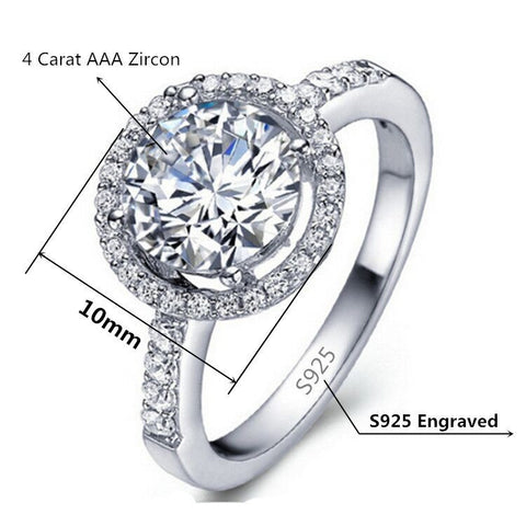 Rings - *FREE* 925 Silver Plated Gorgeous CZ Ring Finger Band Valentine/ Wedding/ Eternity Women US Size 5-10! NEW DESIGN!