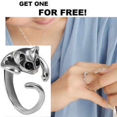 Rings - **FREE** Cuddly Cute Silver Plated Cat Ring 1
