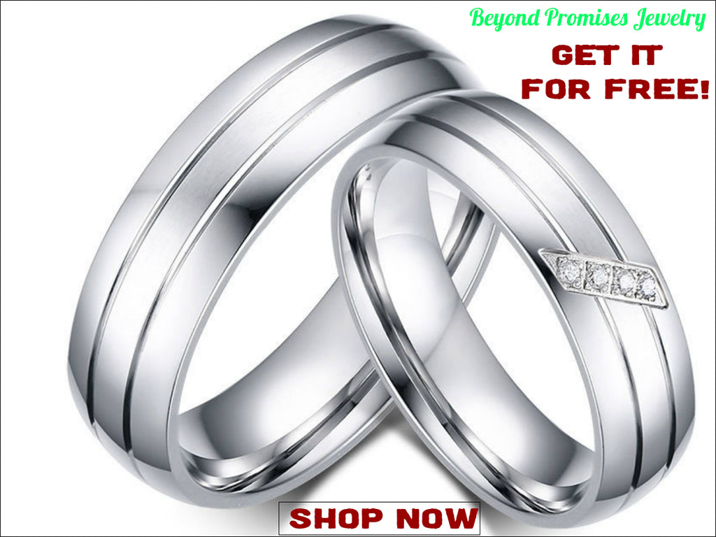 gorgeous couples stainless steel ring women/ men's wedding band