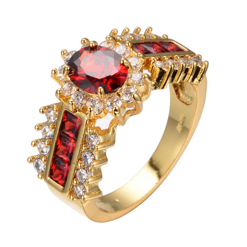 GORGEOUS HANDMADE 1.0 CT RED RUBY WEDDING RING US 5-12 (UK J1/2-Y)