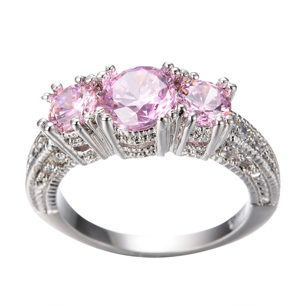 diamond pink ring gemstones carats jewelry estate sapphire colored and rings