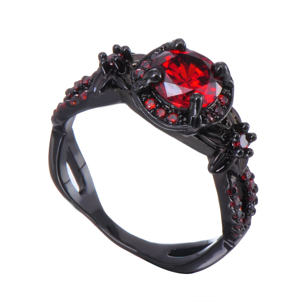 product masters art ct rings diamond engagement ring classic wedding gold black p carat red