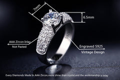NEW ARRIVAL 30% Silver Ring And Platinum Plated With Trendy Austrian Charm Crystal For Women US 6-10 (UK: M-T1/2)