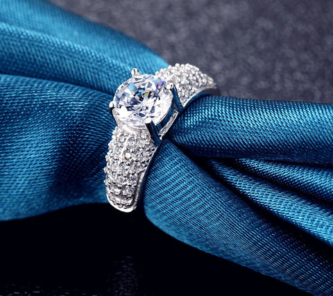 Rings - NEW ARRIVAL 30% Silver Ring And Platinum Plated With Trendy Austrian Charm Crystal For Women US 6-10 (UK: M-T1/2)
