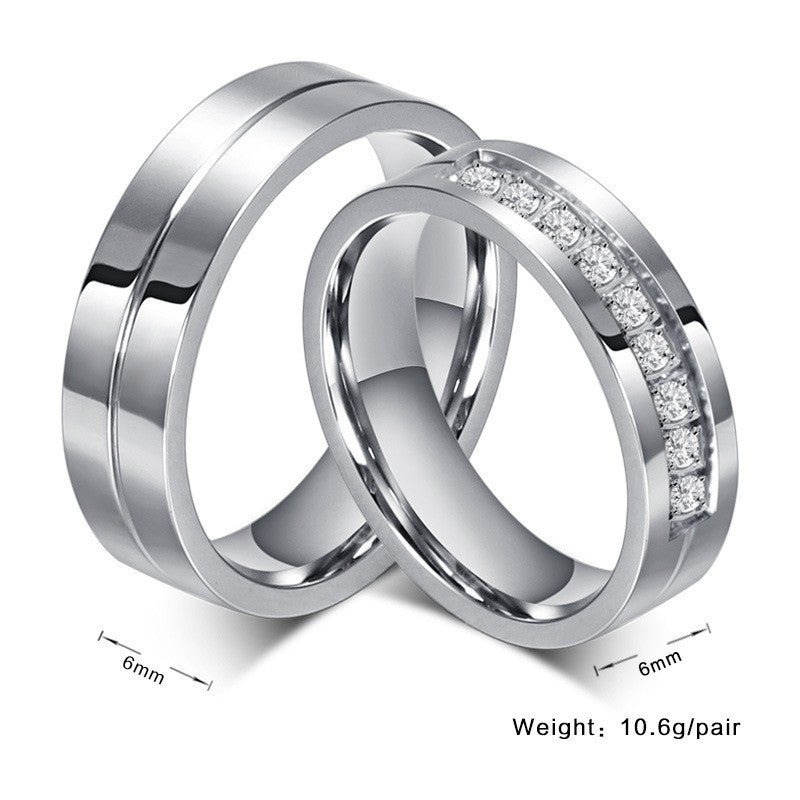 New Design Stunning Unique Couples Crystal Wedding Rings Beyond