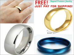 NEW GORGEOUS WOMEN MEN WEDDING BANDS SILVER GOLD BLUE US: 5-14 (UK: J1/2-Z+3)