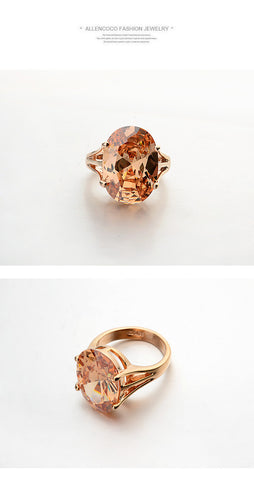 Rings - New Style Beautiful Swarovski Elements Real Italina Rigant 18K Gold Plated Rings For Women- FREE SHIPPING!