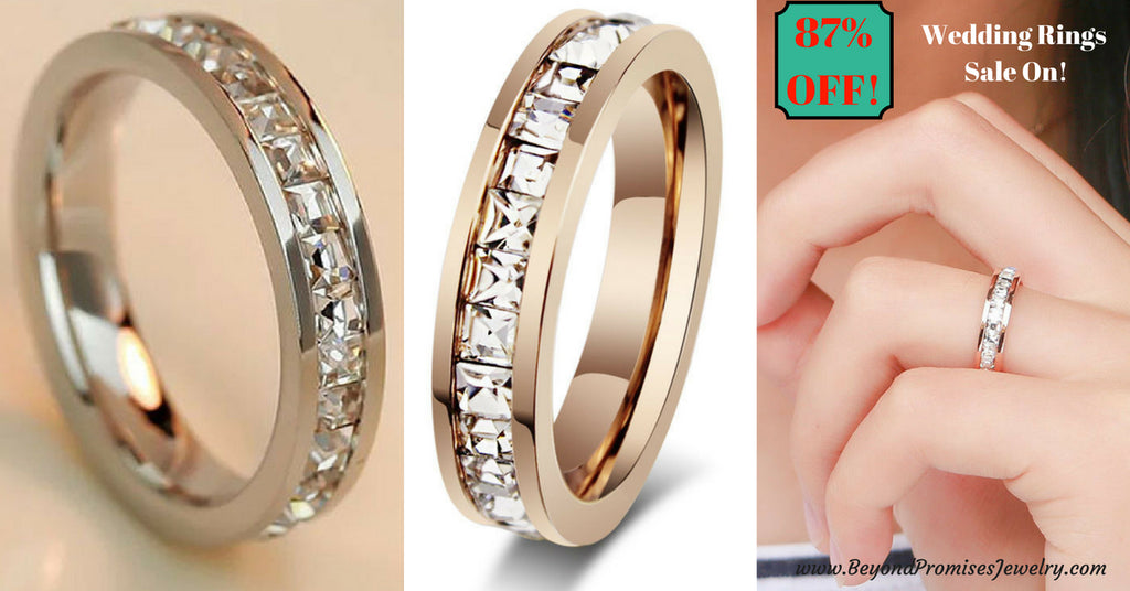 rings stunning silver rose gold unisex wedding bands size us 3 10
