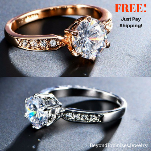 ***FREE*** Beautiful 1.75ct AAA Zircon Engagement Rings for Women