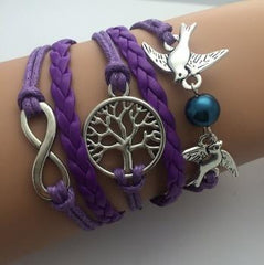 Vintage Infinity Bracelets - **free** BIRDS TREE OF LIFE PEARL INFINITY BRACELET- JUST PAY SHIPPING