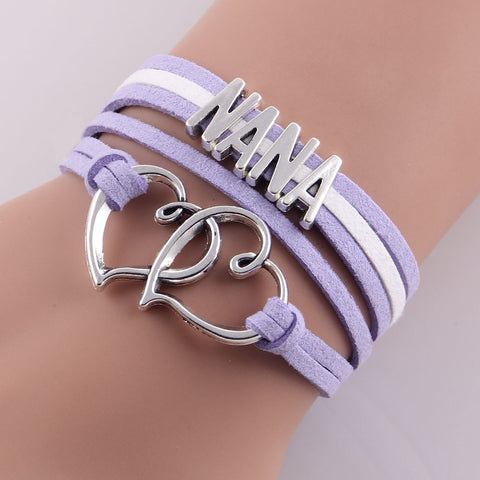 Vintage Infinity Bracelets - **Free** Cute And Trendy Infinity Love Grandmother Hearts And Baby's Feet Bracelet