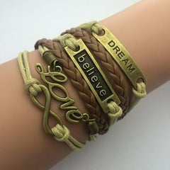 Vintage Infinity Bracelets - **FREE** DREAM BELIEVE LOVE INFINITY BRACELET- JUST PAY SHIPPING!