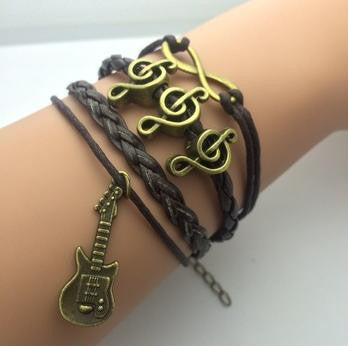 Vintage Infinity Bracelets - **FREE** GUITAR MUSIC INFINITY BRACELET- JUST PAY SHIPPING!