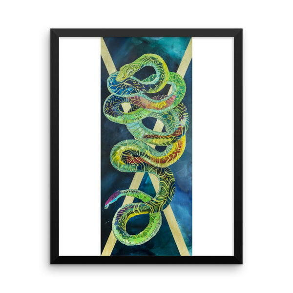 Space Snake Framed photo paper poster