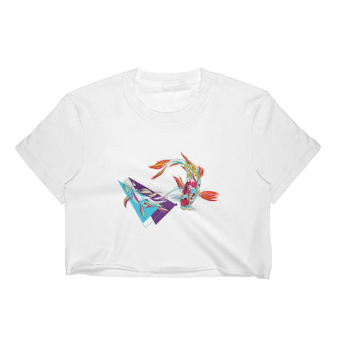 Koi fish Women's Crop Top