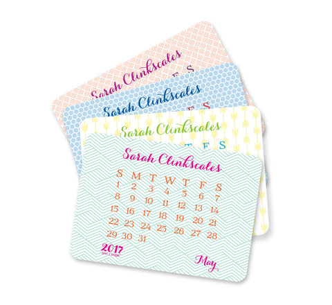 Personalized Fancy Calendar (12 Month)
