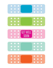 """Get Well Soon Bandaid"" Greeting Card (GC45AP030)"