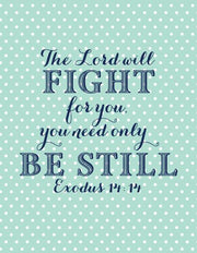 """The Lord will Fight for you."" Greeting Card (GC45AP088)"