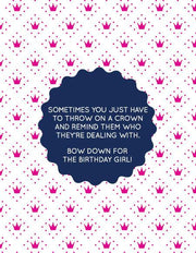 """Sometimes You Just Have To Throw On a Crown..."" Greeting Card (GC45AP1014)"