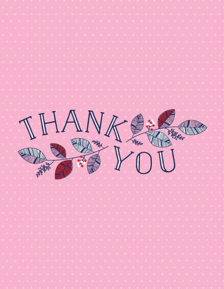 """Thank You"" Greeting Card"
