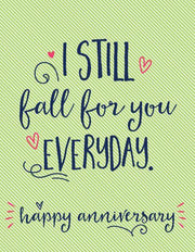"""I Still Fall For You Everyday"" Greeting Card (GC45AP1106)"