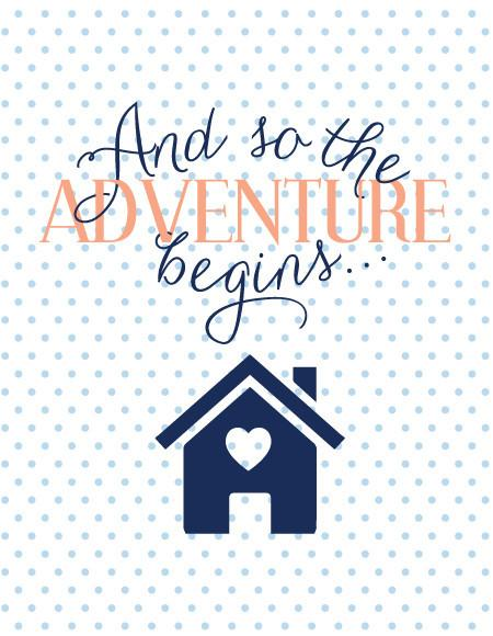 """And so the Adventure Begins"" Greeting Card"