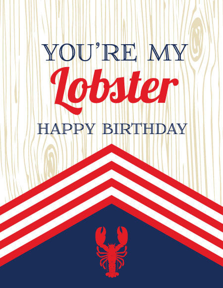 """You're My Lobster"" Greeting Card"
