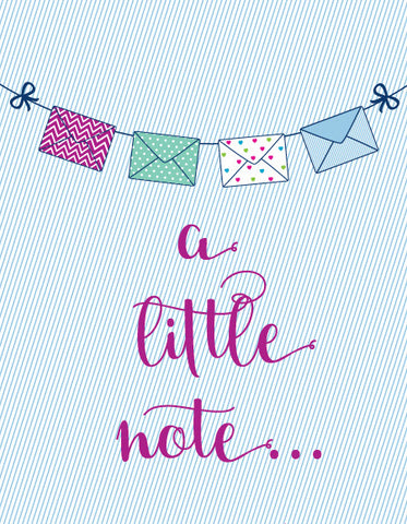 """A Little Note"" Greeting Card"