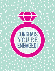 """Congrats You're Engaged!"" Greeting Card (GC45AP2042)"