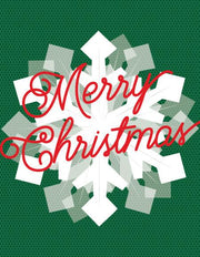 """Merry Christmas"" Snowflake Greeting Card (GC45AP2063)"