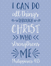 """I Can Do All Things Through Christ Who Strengthens Me"" Greeting Card (GC45AP2070)"