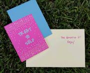 "NEW!  ** ""Treat Yo' Self"" Greeting Card (GC45AP5002)"