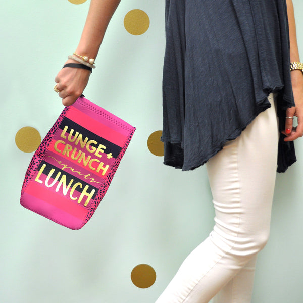 """Lunge + Crunch equals Lunch"" Lunch Sack"