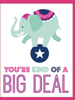 """You're Kind of a Big Deal"" - Greeting Card (GC45AP4003)"