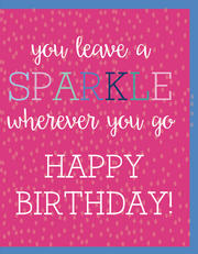 """Leave a SPARKLE wherever you go / HBD"" Greeting Card (GC45AP4010)"