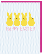 """Happy Easter Peeps"" Greeting Card With COLORED ENVELOPE (GC45AP115C)"