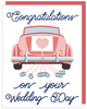 """Congratulations on your Wedding Day"" - Greeting Card with COLORED ENVELOPE (GC45AP4019)"