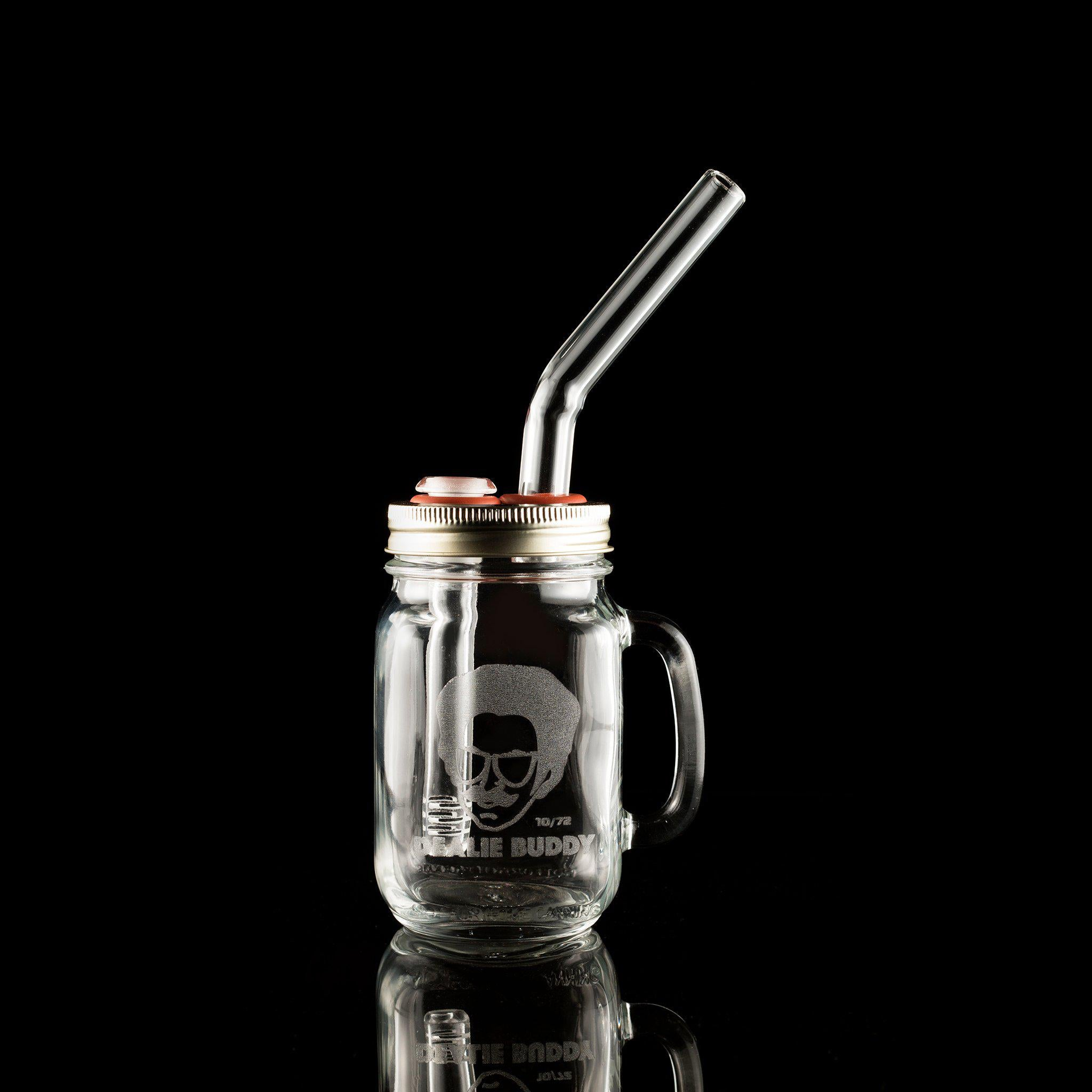Dealie Buddy Limited Edition Etched Jar + Clear Straw