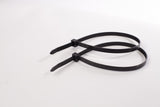 BCT 12 Inch 120 lb Cable Ties - Light Heavy Duty Industrial/Home Use - Bag of 100 - UV Black - Zip Ties - Y111200C